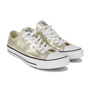 Converse All Star Gold Metallic 9M/11W  worn once!